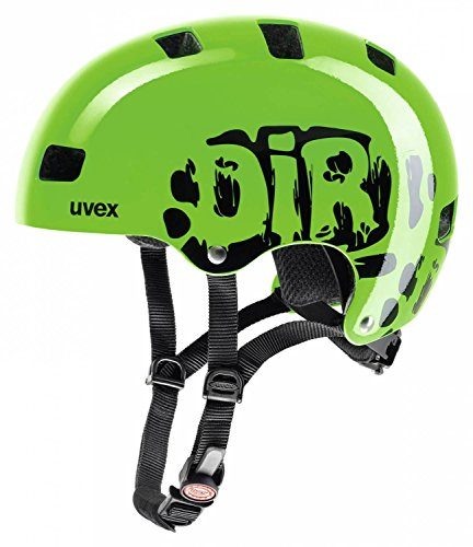 Uvex Kid 3 Fahrradhelm, Dirtbike Green, 55-58 cm
