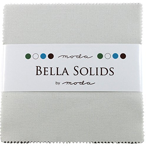 Bella Solids Feather White Moda Charm Pack By Moda Fabrics; 42-5