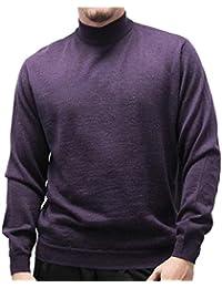 Men's Solid Mock Turtleneck Sweater 6800-500