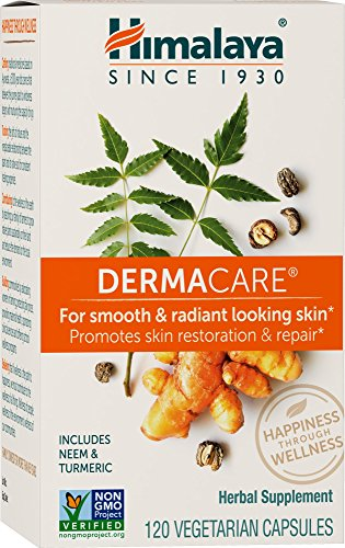 (Himalaya DermaCare with Neem for Clear Skin and Mild Acne 560 mg, 120 Capsules, 1 Month Supply)