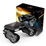 KANGORA Solar Powered Motion Light PIR Motion Sensor Dual Head Spotlight Waterproof Adjustable Wall Garden Deck Lawn Patio Driveway Light