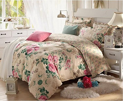 4 Piece Quilt Duvet Cover Set 1 Duvet Cover + 2 Pillow Shams + 1 bed sheet - Quality Durable Bed Cover Coordinates/ Dance with the wind /6 Feet by GH8 (Image #3)