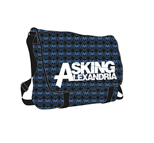 Price comparison product image Asking Alexandria Logo Reckless Official Blue All Over Print Messenger Bag