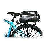 Bike Rear Bag Cycling Rack Rear Bag Zipper Pockets Bottle Case Bike Accessories for Road Mountain Bikes Black