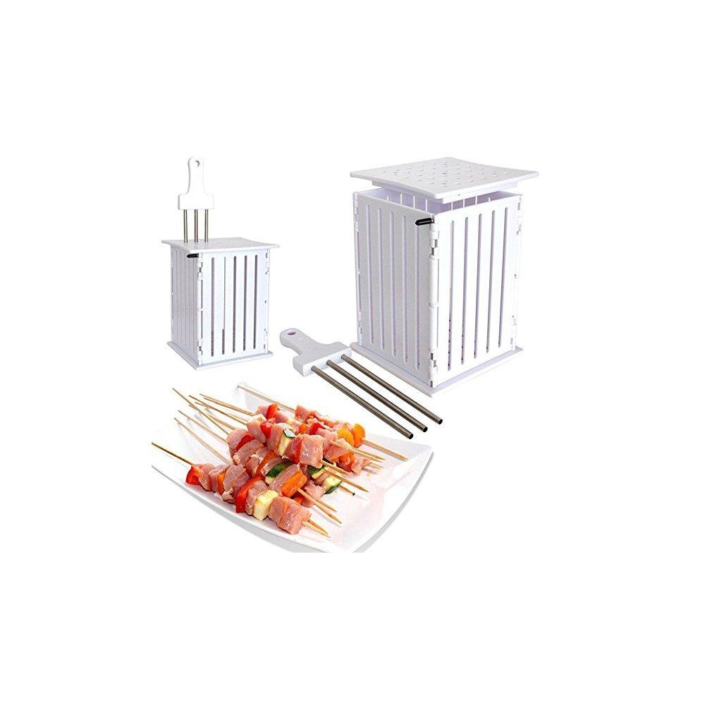 Spiedini di carne di manzo con spiedini di carne di kebab spiedini multi-funzione non danneggiano le mani rapidamente rendono deliziosa la griglia/ambientale/veloce/sicura(81 strings) sanqi