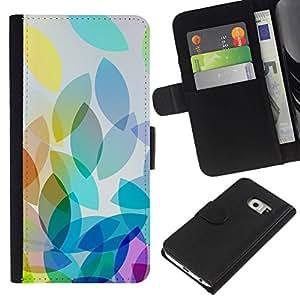 All Phone Most Case / Oferta Especial Cáscara Funda de cuero Monedero Cubierta de proteccion Caso / Wallet Case for Samsung Galaxy S6 EDGE // Apple Colorful Light Bright White
