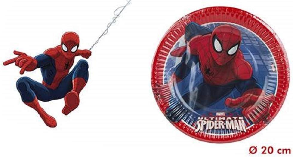 ColorBaby, 71902, Pack 8 Platos Spiderman para Fiestas y ...