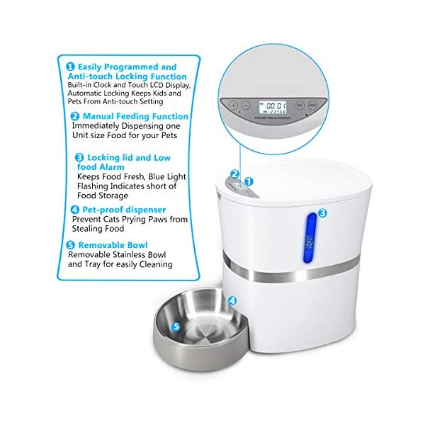 HoneyGuaridan A36 Automatic Pet Feeder, Dog, Cat, Rabbit & Small Animals Food Dispenser with Stainless Steel Pet Food… Click on image for further info. 3