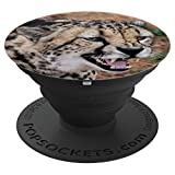 Angry Cheetah Kitty Cat Animal For Back To School - PopSockets Grip and Stand for Phones and Tablets