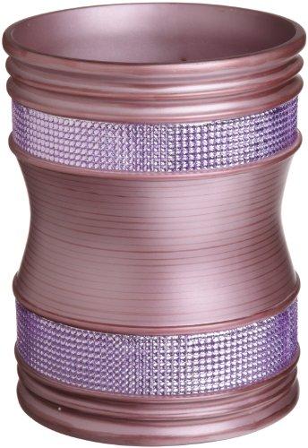 Popular Bath Sequins Waste Basket, Purple
