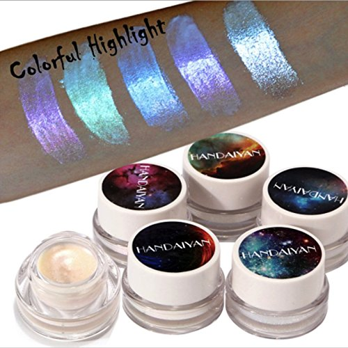 5 PC Multi Function Metallic Makeup Highlighter Eyeshadow Cream-bring a highlighting, strobing, or bronzing - Multifunction Highlighter