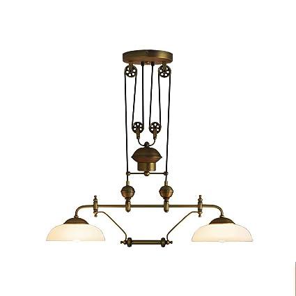 YCLED Lámparas de polea de Hierro de la Vendimia, Luces de ...