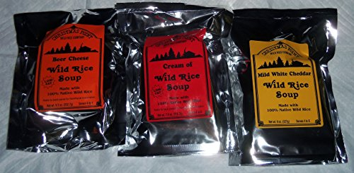 Christmas Point Wild Rice Soup Mix 3 Pack Beer Cheese White Cheddar Cream