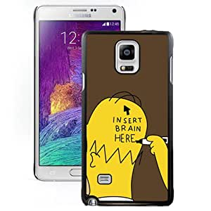 Insert Brain Simpsons Durable High Quality Samsung Note 4 Case