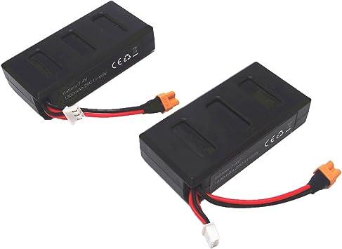 Wwman 2pcs 7.4v 1300mah 25C Li-poli Batterie per i bug MJX 6 B6F B6F B6FD RC Drone Ricambi