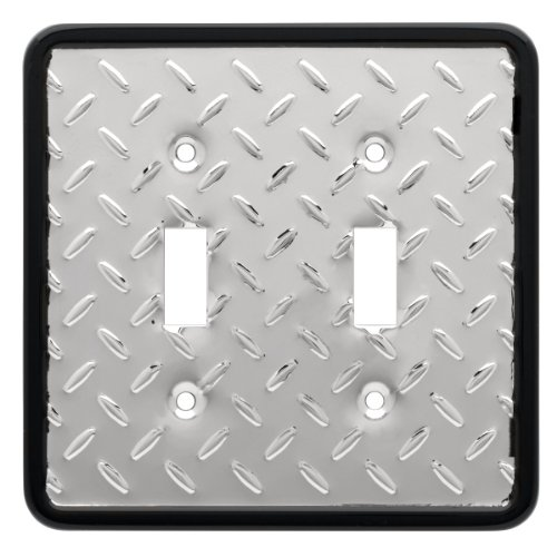 Double Chrome Plate (Franklin Brass 135861 Diamond Plate Double Toggle Switch Wall Plate / Switch Plate / Cover)