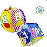 Smiles Creation Educational and Musical Soft Ball and Square with Attractive and Bright Colour Toy for Kids