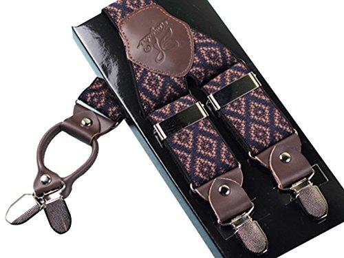 Cinturini completamente Ahatech Y 4 6 Colore regolabile elastici in Uomo pelle clip a Rq4XR