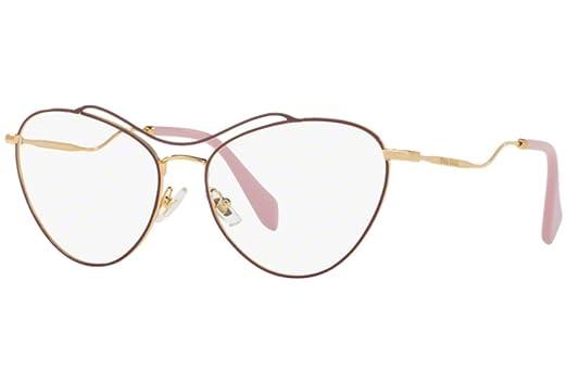 639b400c1e59 Eyeglasses Miu Miu MU 53PV UA51O1 ANTIQUE GOLD/AMARANTH at Amazon ...