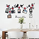 Wall Stickers,GOODCULLER DIY Removable Photo Bird PVC Wall Decal Family Home ...