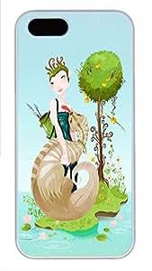 iPhone 5 5S Case Cute Cartoon Illustration PC Custom iPhone 5 5S Case Cover White
