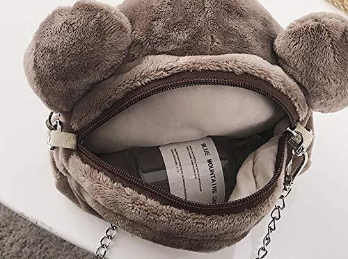 Tote GSHGA à poignée supérieure Bags à Main Simple Plus de Sac Main de Simple Ours à à Baguettes Mode Main Mignonnes à Pink Peluche Sac Sac BU1rwBq