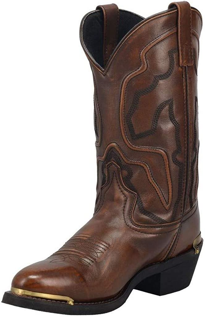 Laredo Mens Atlas Boots Brown Calf Mid Max Ranking TOP7 73% OFF -