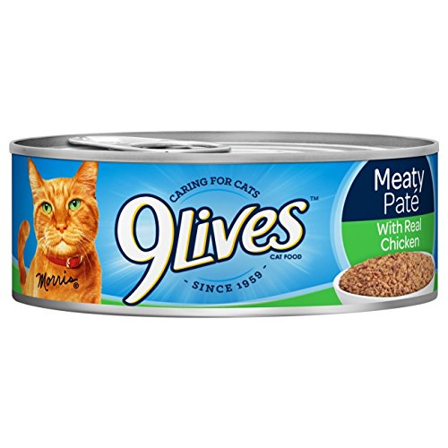 9Lives Meaty Paté With Real Chicken Wet Cat Food, 4/5.5-Oun
