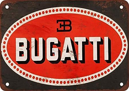 Metalsigns Bugatti Look Vintage Reproduction Plaque en m/étal 17,8/x 25,4/cm