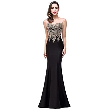 ebafa02b9c37 Sexy Sheer Lace Mermaid Long Prom Dresses Under 50 Elegant Black Evening  Party Dresses Vestido de