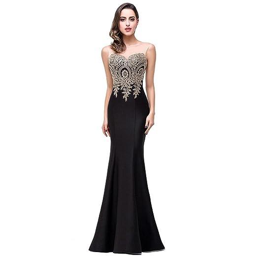 Tanyanini Sexy Sheer Lace Mermaid Long Prom Dresses Under 50 Elegant