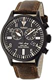 TIMEX Waterbury Chronograph SS-made Black Case Black Dial Brown Strap TW2P64800