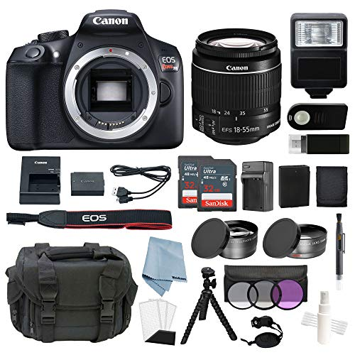 Canon EOS Rebel T6 Bundle With EF-S 18-55mm f/3.5-5.6 IS II Lens + Deluxe Accessory Kit - Including EVERYTHING You Need To Get Started