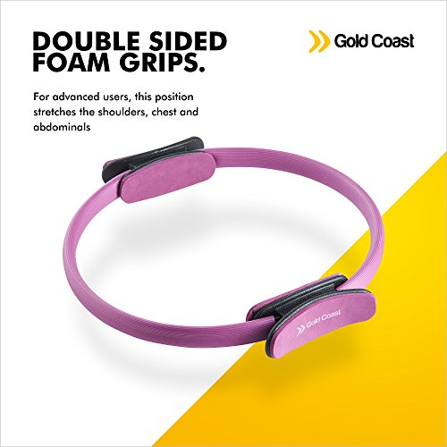 Gold Coast Double Handle Pilates Circle Resistance Ring Purple / Black