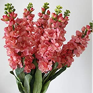 "Skyseen 6PCS Stems 32"" Artificial Antirrhinum Snapdragon Silk Hyacinth Flowers (Pink) 8"