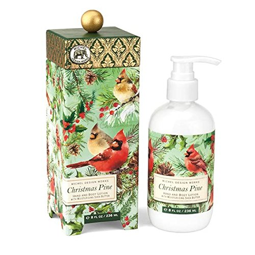 Design Body Lotion - Michel Design Works Moisturizing Hand and Body Lotion with Shea Butter, Christmas Pine