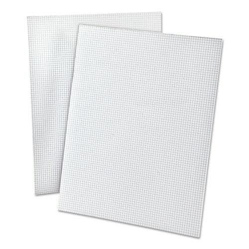 TOPS Quadrille Pads with Heavyweight Paper, 8 x 8 Squares/Inch, 50 Sheets, White