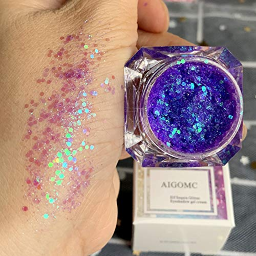 Zlolia 16 Color Natural Velvet Texture Powder Creamy Mix Gel Glitte Eyeshadow,Sequins Diamond Earth Color Flashing Powder Sparkling Stage ()