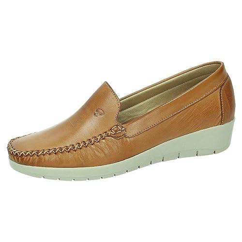 MADE IN SPAIN 1718 Mocasines Piel CUÑA Mujer Zapatos MOCASÍN Cuero 36