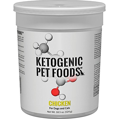 Ketogenic Pet Foods - Chicken - High Protein, High Fat, Low Carb, Natural Dog & Cat Food - 18.5 oz. Canister (Best Low Fat Cat Food)