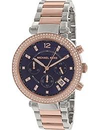 Michael Kors Parker MK6141 Women's Wrist Watches, Blue Dial