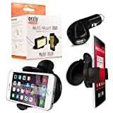 Orzly® - Multi-Mount 360 Car Holder for SmartPhone or GPS - 360 Degree