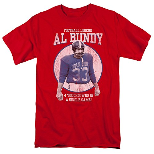 Married With Children Al Bundy Football Legend T-Shirt, Red, Large