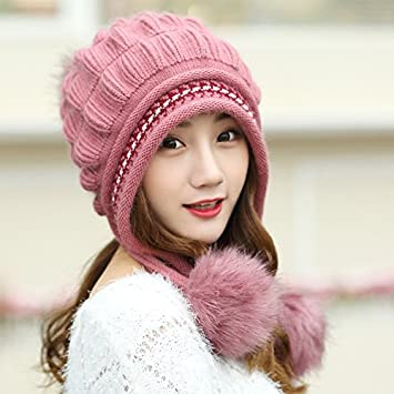 bfd5d2f7880 DIDIDD Hat-Women s Winter and Autumn Hats Fashion Warm Knit Cap Children  Cashmere Hat