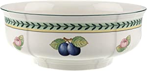 Villeroy & Boch French Garden Fleurence Round Vegetable Bowl, 9.75 in, White/Multicolored