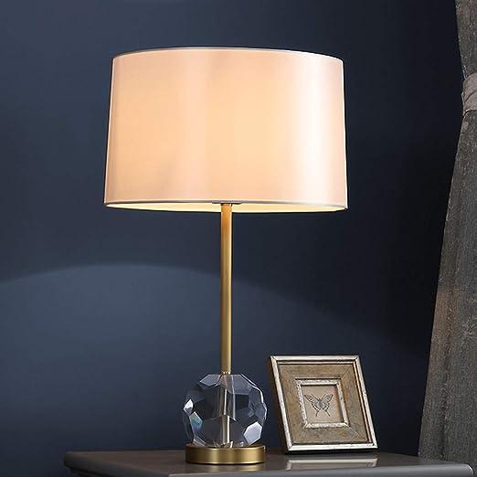 PElight Lámpara de Mesa de Cristal K9 Moderna, Lámpara de ...