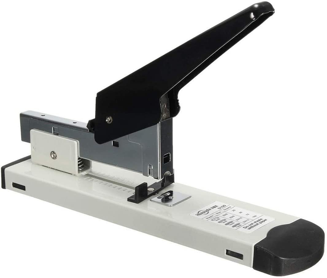23//6 23//13 Pins NOLOGO Fssh-mlx Heavy Type Metal Stapler Bookbinding Stapling 120 Sheet Capacity Office Tools Fit Staples 23//10 23//8 Color : As pic