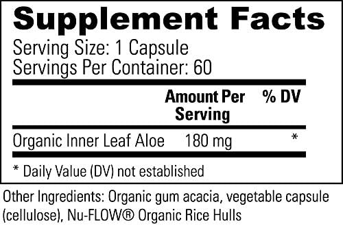 Global Healing Aloe Fuzion Bio-Active Organic Aloe Vera Leaf Supplement - 200x Concentrate Formula with Highest Concentration of Acemannan - Aloin-Free - Blood Sugar & Immune Support - 60 Capsules 3