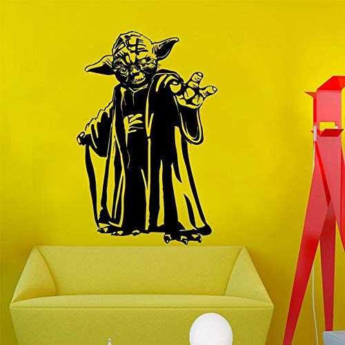 Quotes Vinyl Wall Art Decals Saying Words Removable Lettering Master Yoda Wall Sticker Home Decor Movie Vinyl Art House Decoration Removable Star Wars Decal]()