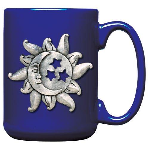 Celestial Pewter Pendant - 1pc, Pewter Celestial Coffee Mug, Cobalt